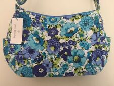 NEW Vera Bradley BLUEBERRY BLOOMS On The Go Purse - Shoulder Hobo Bag Handbag