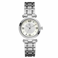 BRAND NEW GUESS COLLECTION X17003L1 SILVER TONE WOMEN'S WATCH WITH BLUE HANDS