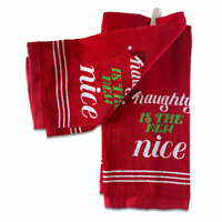 Naughty Is The New Nice Kitchen Towels Christmas Set of 2 St Nicholas Sq