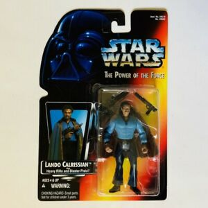 LANDO CALRISSIAN Star Wars Power Of The Force 2 POTF2 1995 Red Card .00 MOC!!