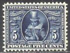 ESTADOS UNIDOS #330 Timbre Nh Belleza W/ Certificado - 1907 5c Jamestown