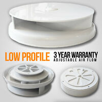 Wind Driven WHITE Van Roof Vent Rotating Dog Pet Horse Vehicle 4x4 Air Rotary