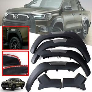 """Fender Flares Wheel Arch Black Grey 6"""" For Toyota Hilux Pickup 4x4 4WD 2020-2021"""