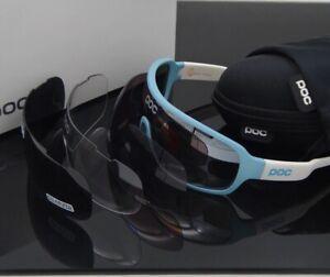 New 4 Lens Outdoor Cycling Glasse POC Goggles Mountain Bike Sunglasse Polarized
