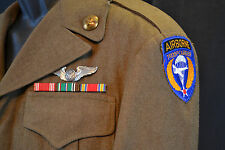 WWII US ARMY AIR FORCE AIRBORNE TROOP CARRIER  RARE  WW2 IKE JACKET UNIFORM 1944