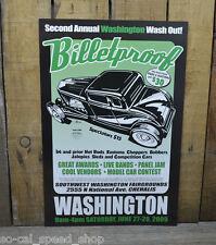 BILLETPROOF POSTER WASHINGTON 09 RAT HOT ROD CAR SHOW CUSTOM GARAGE 1932 FORD