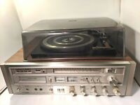 Vintage Pioneer Centrex RH-6611 8 Track Recording AM FM Receiver with Turntable