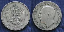 MONETA COIN MONNAIE KINGDOM JUGOSLAVIA 20 DINARA 1931 ARGENTO SILVER SILBER  #7
