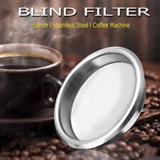 58mm Stainless Steel Backflush Disk Portafilter Blind Filter Coffee Maker Basket