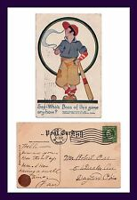 """BASEBALL """"WHO'S THE BOSS OF THIS GAME ANYHOW?"""" 1911 TO ROBERT ORR, DAYTON, OHIO"""