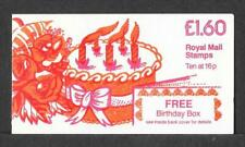 """£1-60 """"BIRTHDAY BOX"""" CYLINDER FOLDED BOOKLET LEFT FORMAT FSIaA AMMENDED RATE"""