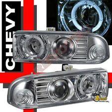 1998-2004 Chevy S10 / Blazer Halo Projector Headlights Chrome RH + LH