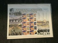 Stamps Athens 1896 To 2004 Olympic, Australian The Golden Era Ltd Edition Sheet
