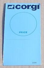 CORGI TOYS effet miroir - 1980 S ORIGINAL SHOP DISPLAY point de vente Carte SIGNE