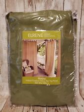 Elrene Home Fashions Matine Indoor/Outdoor Green Tab Top Single Panel Curtain