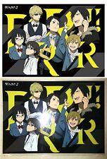 Durarara DRRR! x 2 A3 Clear Poster B Group Shizuo, Izaya, Celty + Kadokawa New