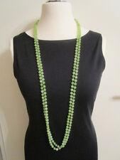 Halskette Perlenkette grün 2x Modeschmuck kein Metall ohne Stein Länge 120 cm