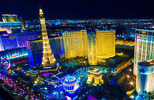 Incorniciato stampa-Bright Lights of the LAS VEGAS Torre Eiffel (PICTURE POSTER ART)