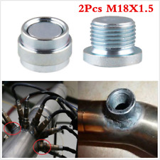 2pcs M18x1.5 Stainless Steel Welding O2 Oxygen Sensor Spacer Extender Nut Bung