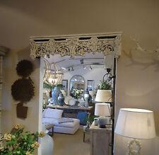 Cortina de corona dosel cama detalle de la cenefa Floral Shabby Chic acabado envejecido