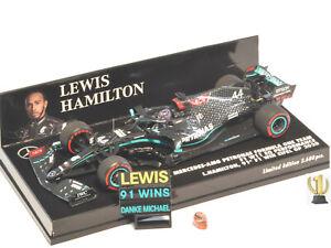 1:43 Minichamps 410201144 Mercedes AMG W11, winner Eifel GP 2020, Hamilton #44