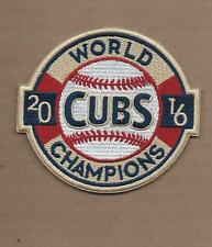 NEW 3 1/4 X 3 5/8 INCH CHICAGO CUBS 2016 WS CHAMPIONS IRON ON PATCH FREE SHIP