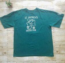 Adidas Mens Green St. Patricks Day Shirt Sz 2Xl Xx Large Soccer Club