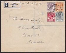 SINGAPORE STRAITS SETTLEMENTS 1937 Registered cover RAFFLES INSTITUTE.......6041