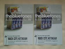 "THE BLUETONES Live ""The Extended Jukebox Tour"" UK 2016 Promo tour flyers x 2"