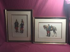 Set Of 2 Framed French Soldiers Infantry & Dragoon  Edouard Detaille - Colored