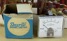 Shurite Panel Meter 8607z 0-10ma  AC Electro Mechanical Ammeter Zero Adjuster #2