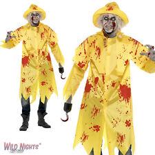 HALLOWEEN FANCY DRESS COSTUME # MENS ZOMBIE SOU'WESTER FISHERMAN + HOOK