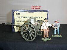 BRITAINS 17432 CONFEDERATE INFANTRY LIMBER WAGON METAL TOY SOLDIER FIGURE SET