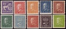 SVEZIA SWEDEN 1925/26 - n. 195/204 10 VALORI NUOVI MH