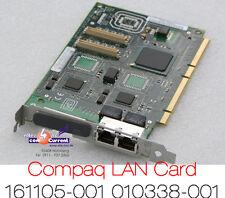 COMPAQ DUAL 2x 10/100 NETZWERKKARTE PCI + PCI-64 161105-001 LAN CARD NC3134
