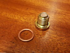 RENAULT 5 GT TURBO NEW ENGINE SUMP PLUG AND COPPER WASHER MAGNETIC
