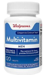 Walgreens Multivitamin Men 120 Tablets One A Day  EXP 05/2022