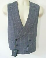 BNWT Massimo Dutti Double Breasted Grey Wool Waistcoat - UK 40 / EU 50 RRP £100
