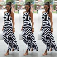 Neu Sexy Damen Sommer Lang Maxi Boho Abend Partykleid Strand Kleider Sommerkleid