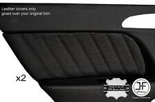 BLACK STITCHING 2X REAR DOOR CARD TRIM LEATHER COVERS FITS ALFA ROMEO 156 98-03