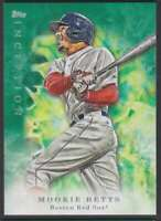 2017 TOPPS INCEPTION GREEN BASEBALL MOOKIE BETTS BOSTON RED SOX #3 PARALLEL
