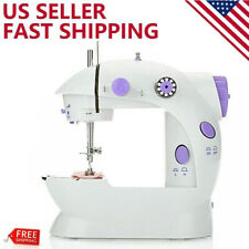 Mini Desktop Electric Sewing Machine 12 Stitches Household Tailor Foot Pedal NEW
