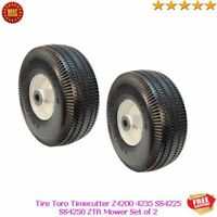 "10"" Front Wheel Tire Toro Timecutter Z4200 4235 SS4225 SS4250 ZTR Mower Set of 2"