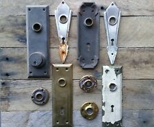 Antique Vintage Door Knob Back Plate Lot 9 plates - Eastlake Art Deco  Repurpose