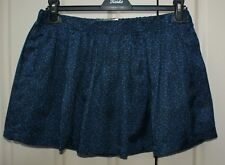 JACK WILLS black and navy floral print silk blend mini skirt size 8