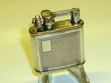 MAYFAIR POCKET LIFTARM LIGHTER W. STERLING SILVER CASE - 1930 - MADE IN ENGLAND
