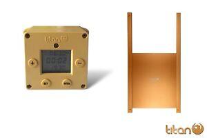 Titan CUBE Light Sensor & Timer Automatic Chicken Coop Door Opener + Metal Door