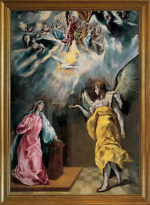 Classic Framed El Greco The Annunciation Giclee Canvas Print
