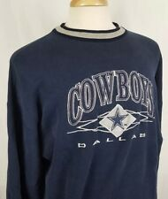 Vintage Dallas Cowboys Logo Athletic L/S Sweatshirt Adult XL Blue Silver Sewn