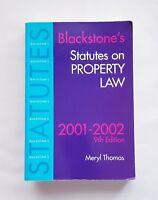 Blackstone's Statutes on Property Law 2001/2002 9th Edition Meryl Thomas